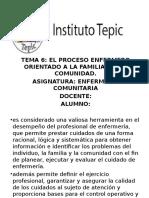 EL PROCESO ENFERMERO ORIENTADO A LA FAMILIA Y A LA COMUNIDAD.