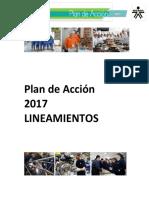 Plan de Accion 2017 - Lineamientos - 01 Diciembre 2016