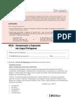 Simulado - Comunicação e Expressão Em Língua Portuguesa
