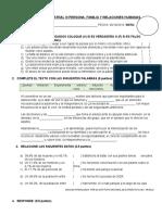 Evaluación Bimestral III Persona
