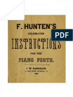 Celebrated Instructions Piano Forte School (by Franz Hünten) (1864)