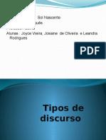 Tipos de Discurso 2