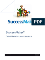 SuccessMaker Default Maths Scope and Sequence