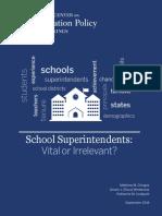 Superintendents' affect on student achievement