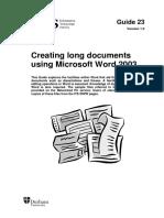 Documente Mari Word 2003