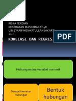 Korelasi Dan Regresi Linier