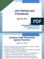 C-TPAT Security Policies and Procedures