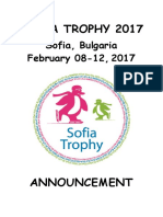 announcement - sofia trophy 2017
