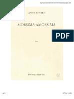 Xenakis - Morsima-Amorsima