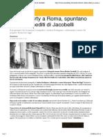 22.9.2016, 'I Villini Liberty a Roma, Spuntano Gli Scatti Inediti Di Jacobelli', RomaToday