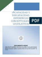 INCAPACIDAD Y DISCAPACIDAD Diferencias Conceptuales y Legislativas