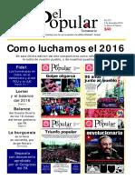El Popular 375 Órgano de Prensa Oficial del Partido Comunista de Uruguay
