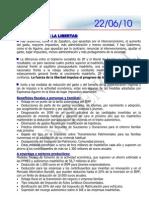 ARGUMENTARIO 22.06.10