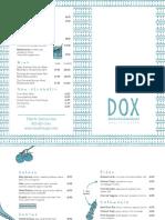DOX Quality Greek Menu