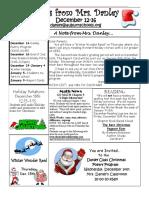 newsletter december 12-16