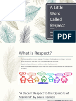 a little word called respect