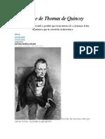 El Linaje de Thomas de Quincey