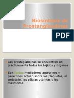 Biosintesis de Prostanglandinas