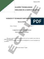 Epreuve écrite Bac techno ST2S