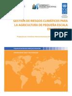Cambio Climatico en La Pequeña Agricultura de Hondura