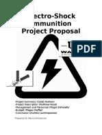 project proposal - electric ammunition