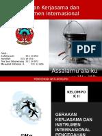 Gerakan  kerjasama dan instrumen pencegahan korupsi