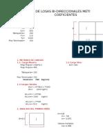 Diseño de Losas Por m. Coeficientes-parcial