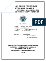 Laporan Akhir Praktikum Elektronika Dasar 1