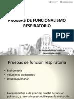 Pruebas de Funcionalismo Respiratorio