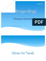 Geohidrologi - Minggu 5 - Perilaku Hidrolika X