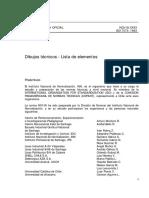 003_NCh18-Of93- Lista de Elementos