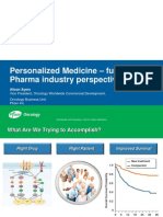 Personalized Medicine - future impact Pharma industry perspective