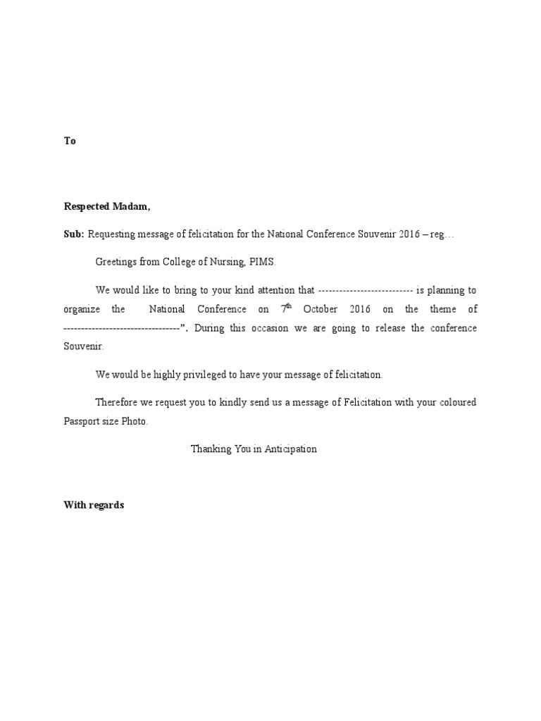 Request letter for felicitation thecheapjerseys Choice Image