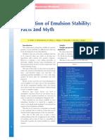 Emulsion Stability