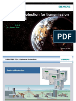 transmission line distance protection
