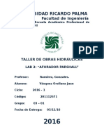 Toh 3. Informe Parshall