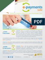 Pagos electrónicos - Brochure e PaymentsSuite