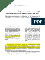 Imaginación e Intelección. Mecanismos de La Cosntrucción Del Conocimiento.