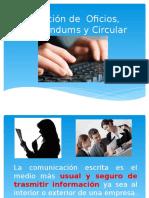 Elaboración de Oficios, Memorándums y Circular
