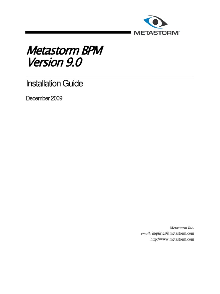 Met a Storm v 9 Installation Guide | Oracle Database | Databases