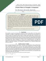 Flow Control of Elastic Plates in Triangular Arrangement