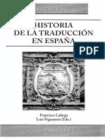 Historia de La Traduccion en Espana 0