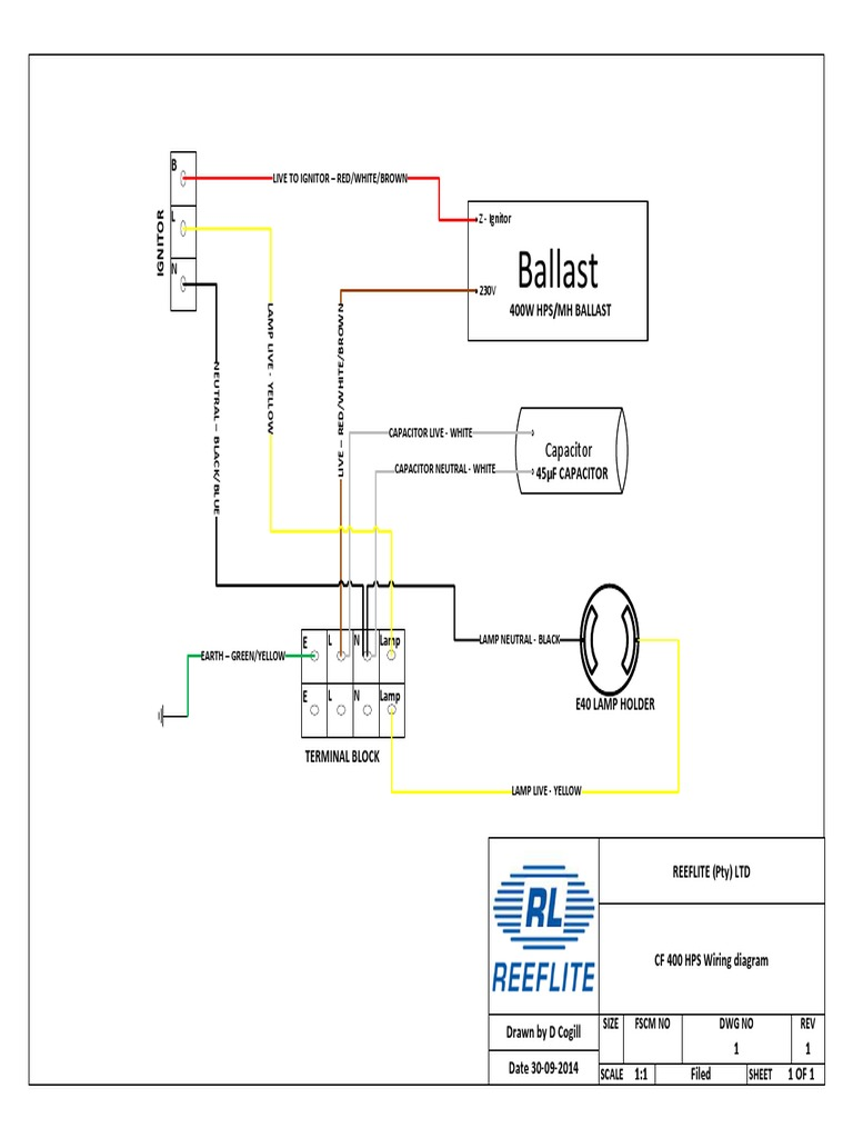 Hps Wiring Diagram With Capacitor Explained Diagrams High Pressure Sodium Cf400w Hid