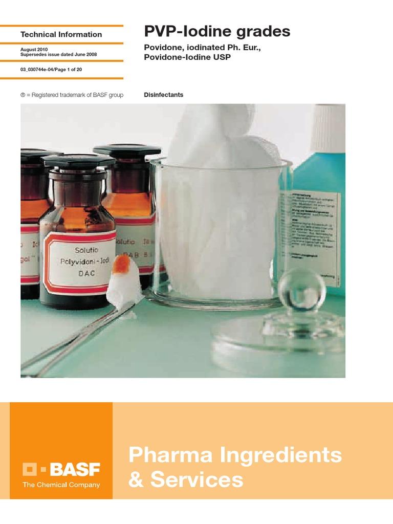 03 030744e PVP Iodine Grades   Chemical Substances   Química