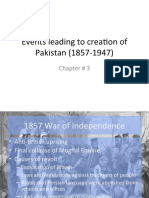 3. Chronology of Important Events Leading to Creation Of