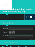 FY2016 Web Analytics Report - Islands Society