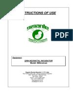 Incubator Millennium Operating Manual