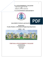 Machine Tools Lab Manual