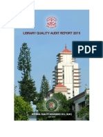 Kerala University Library Audit Report 2015