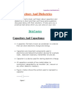 Capacitors and Dielectrics